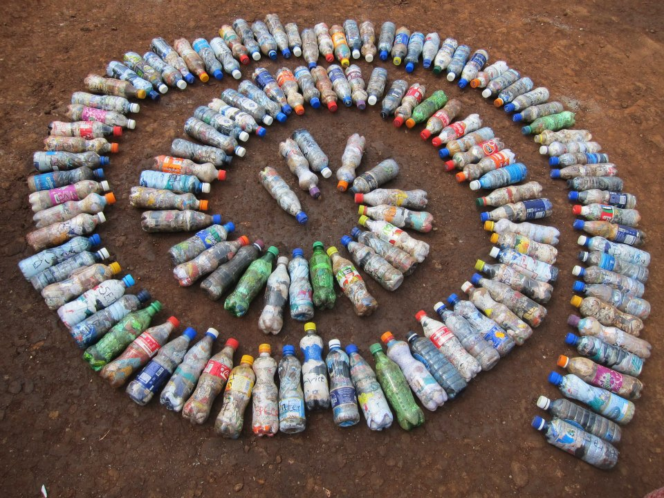 How to bottle brick peace on earthbench movement poem for Model best out of waste